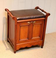 Edwardian Walnut Piano Stool (8 of 9)