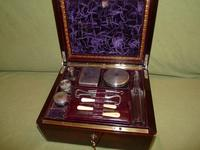 Quality Edge Bound Rosewood Gents Fitted Dressing Box c.1850 (3 of 16)