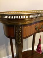 Antique French Kidney Shaped Side Table with Marble Top (3 of 10)