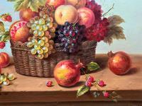 Original Vintage Still Life of Fruit & Flowers - 'Tom Caspers' 20thc British (6 of 12)