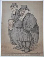 Original 18th Century Print by Robert Dighton, A Master Parson and His Journeyman, 1812 (3 of 9)