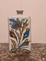 18th Century Antique Iznik Stoneware Vase Flask Bottle Persian Ottoman Islamic (4 of 12)