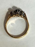 Art Deco 18ct Gold Platinum Sapphire Diamond Trilogy Ring (4 of 11)