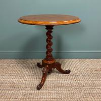 Victorian Mahogany Antique Occasional Lamp Table