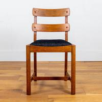 Set of 6 1930s Golden Oak Dining Chairs in the Manner of Heal's (5 of 16)