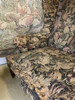 19th Century Two Seat Wingback Settee (5 of 8)