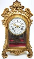 Wow! Incredible French Gilt Mantel Clock Visible Pendulum Glass Panels 8 Day Mantle Clock (3 of 9)