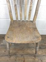 Set of Four Antique Farmhouse Kitchen Chairs (11 of 15)