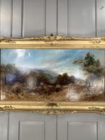 Antique Victorian landscape oil painting entitled Lunch Time by PG Hewett (10 of 11)