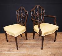 Set 10 Adams Shield Back Dining Chairs Mahogany (5 of 9)