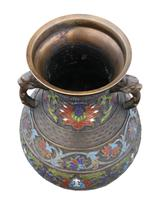 Late 19th Century quality Chinese bronze cloisonne vase (2 of 7)