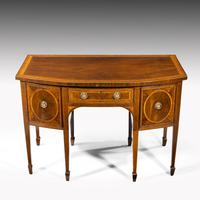 George III Sheraton Period Mahogany Bow Front Sideboard (3 of 7)