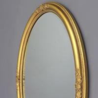Late 19th Century Gilt Oval Bevelled Mirror with Acanthus Decoration c1880 (4 of 7)