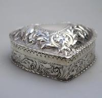 William Comyns - Good Solid Silver Novelty Heart Box c.1895 (4 of 11)