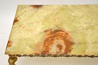 Antique French Onyx & Brass  Coffee  Table (3 of 10)