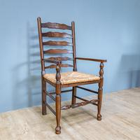 Refectory Table and 8 Ladderback Chairs (8 of 11)