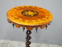 Marquetry Inlaid Walnut Wine Table (5 of 10)