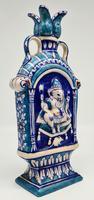 Vintage Bombay Porcelain Vase Featuring Hindu God Ganesh Standing on a Mouse (3 of 8)
