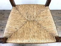 Antique Elm Spindle Back Armchair with Rush Seat (5 of 10)