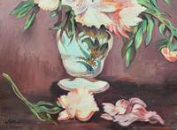 Large Original Gilt Framed 20th Century Impressionist Still Life Floral Oil Painting (4 of 12)