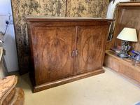 Large Burr Walnut Two Door Inlaid Cupboard (2 of 8)