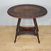 Carved Antique Occasional Table