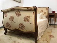 French Pair of Roll End Single Bed Frames with Slatted Bases