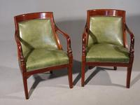 Pair of Charles X Period Mahogany Framed Chairs (2 of 5)
