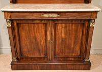 19th Centruy Marble Top Mahogany Chiffonier Sideboard (2 of 8)