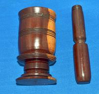 Lignum-Vitae Pestle & Mortar 19th Century