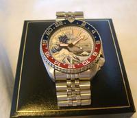 Vintage Wrist Watch 1987 Seiko Diver Mod Great Wave Of Kanagawa Pepsi Bezel Fwo (2 of 12)
