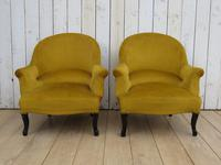 Pair of Antique Napoleon III Armchairs for re-upholstery (2 of 9)