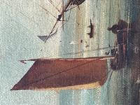 Seascape Oil Painting First Rate Man O War Ships Portsmouth Harbour Signed Brian Coole (15 of 39)