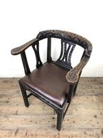 Victorian Carved Oak Gothic Armchair (M-1223) (2 of 12)