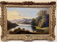 Charming Pair of Framed Oil on Canvas Lakeland Paintings (3 of 6)