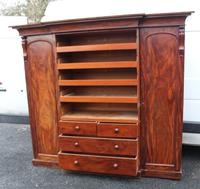 1900s Mahogany 4 Door Breakfront Wardrobe with Slides (3 of 6)