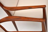 1960's Pair of Danish Vintage Rosewood Carver Armchairs (9 of 9)