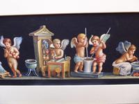Watercolour Mischievous Putti Listed Artist E P Fenderico (9 of 14)