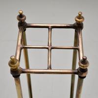 Antique Victorian Brass Umbrella Stand (7 of 7)