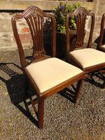 Set of 8 Hepplewhite Style Mahogany Dining Chairs (5 of 12)