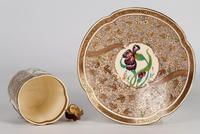 Zsolnay Pecs Hungarian Hand Painted Floral Cabinet Cup & Saucer c.1890 (3 of 16)
