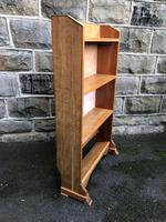 Antique Light Oak Open Bookcase (6 of 10)