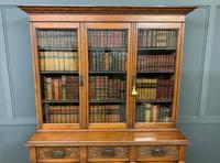 Victorian Carved Oak 3 Door Bookcase (23 of 23)