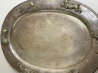 Large Danish Sporting Victorian 19th Century Danish Silver Plate Salver (11 of 31)