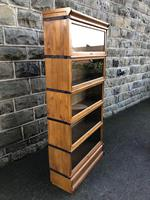 Antique Oak Globe Wernicke Stacking Library Bookcase (4 of 7)