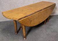 Solid Oak Gateleg Coffee Table / Drop Leaf Coffee Table (3 of 7)