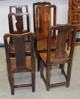 1850's Set 6 Oak Harlequin Dining Chairs (3 of 3)