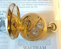 Antique Pocket Watch 1909 Waltham USA 7 Jewel 10ct Gold Filled Fwo (9 of 11)