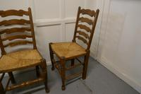 Good Set of 6 Farmhouse Ladder Back Dining Chairs (5 of 6)
