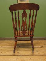 Antique Country Oak Rocking Chair with Nicely Aged Patina (9 of 14)